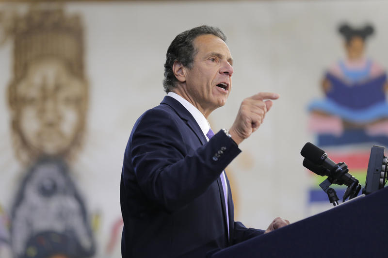 New York Governor Andrew Cuomo speaks at an event in the Brownsville section of Brooklyn last week.