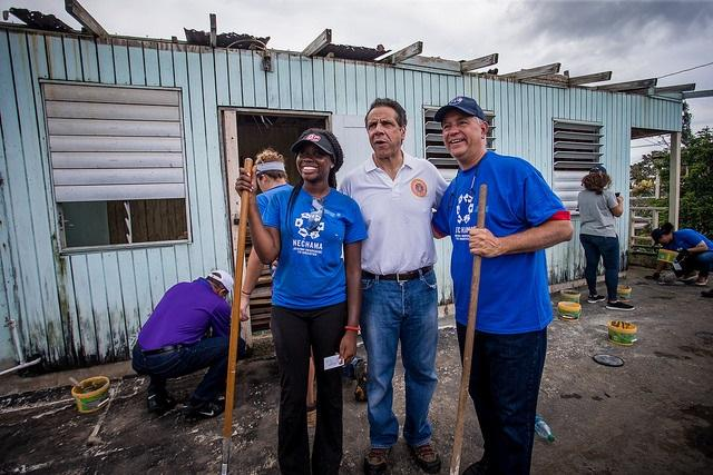 Governor Cuomo takes a tour of rebuilding efforts during his fifth trip to Puerto Rico since Hurricane Maria devastated the island last summer.