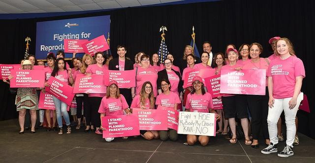 Governor Cuomo was joined Tuesday by Nassau County leaders at a rally in New Hyde Park to fight to protect women's reproductive rights.