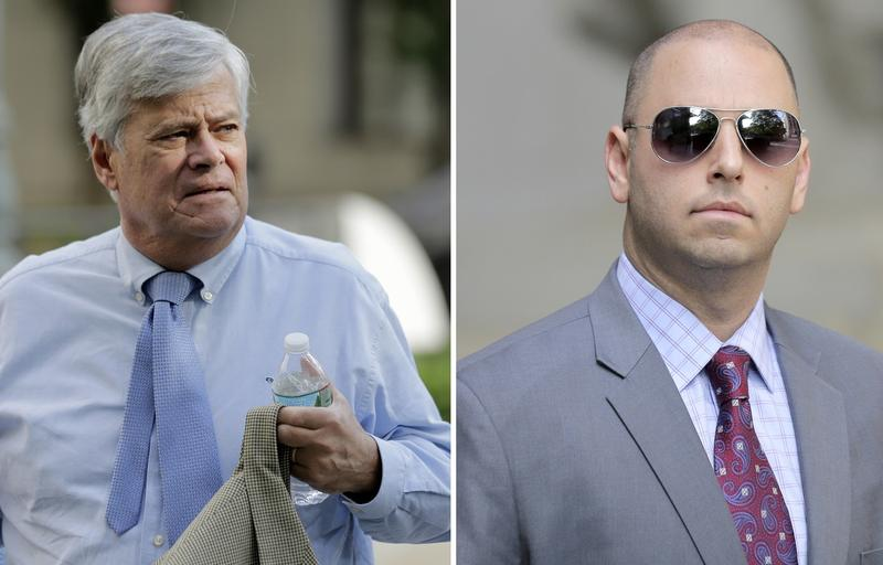 Dean Skelos and son, Adam, arrive separately to federal court in New York last week.