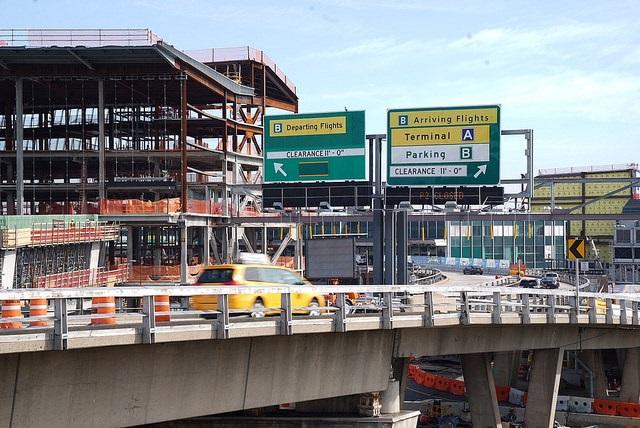LaGuardia Airport as seen on Tuesday, after Governor Cuomo announced the construction of the new flyover.