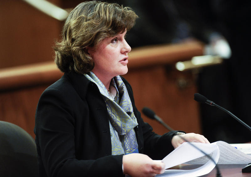 Syracuse Mayor Stephanie Miner testifies during a joint legislative budget hearing on local government funding from the state in 2017 in Albany, N.Y.