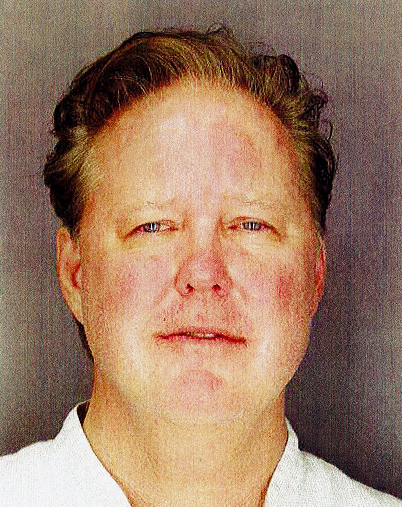 This undated photo provided by Sag Harbor Village Police Department on Monday Aug. 6, 2018, shows Brian France, chairman of NASCAR, taken after his arrest in New York's Hamptons for driving while intoxicated and criminal possession of oxycodone.
