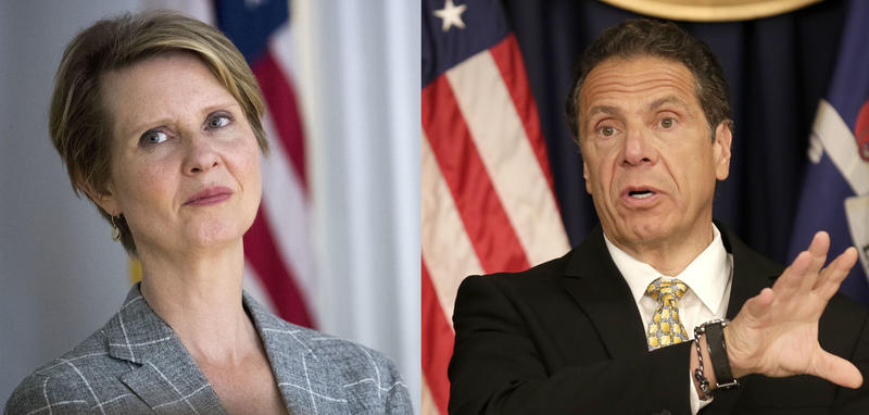 Democratic candidates for New York governor, Cynthia Nixon and Andrew Cuomo