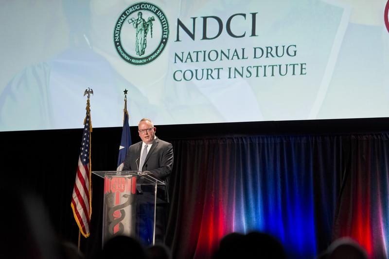 Jim Carroll, deputy director of the White House Office of National Drug Control Policy and President Trump's nominee for drug czar, delivers remarks at the National Association of Drug Court Professionals annual training conference in May in Houston.