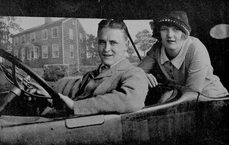 F. Scott Fitzgerald and Zelda Fitzgerald at their home in Westport, Conn.