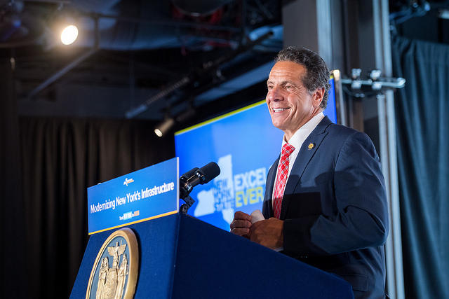 Governor Cuomo announces improvements to Moynihan Station last week.