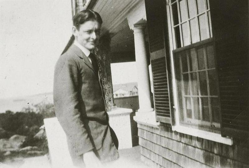 T.S. Eliot at his family's summer home in Gloucester, Mass.