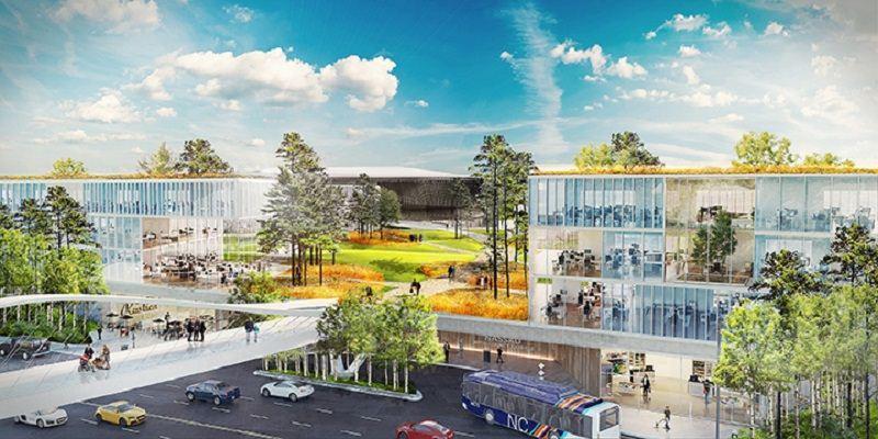 "Artistic rendering of the future ""Nassau Hub"" development."