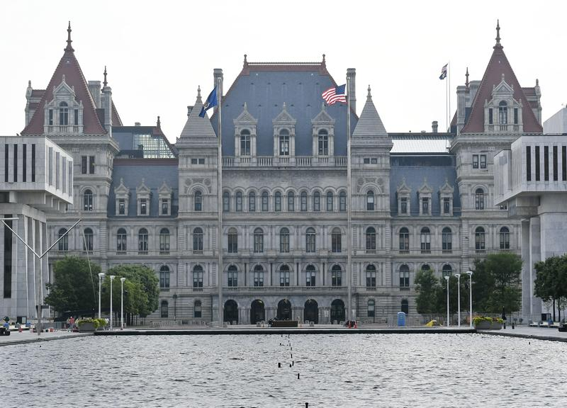 Exterior view of the New York State Capitol in Albany in July.