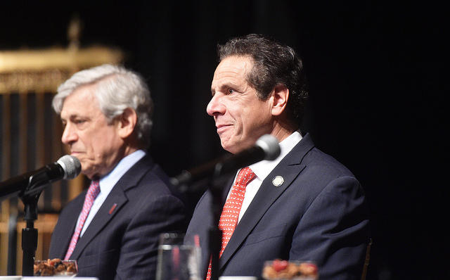 Governor Andrew M. Cuomo delivers remarks at the breakfast for A Better New York at Gotham Hall on Thursday.