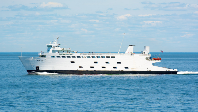 The MV Park City crosses the Long Island Sound between Port Jefferson, N.Y., and Bridgeport, Conn., in 2016.