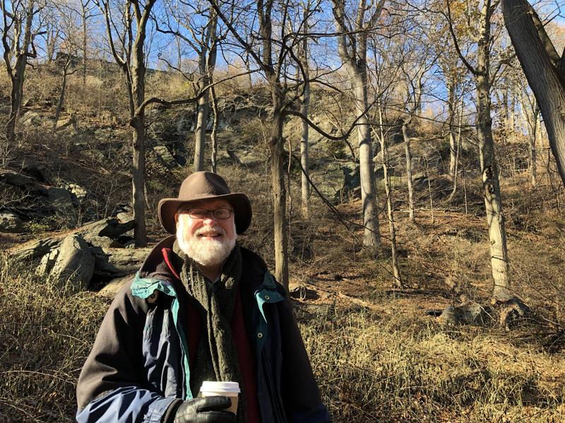 Senior Conservation Ecologist Eric Sanderson with the Wildlife Conservation Society standing in Inwood Hill Park a few weeks ago.