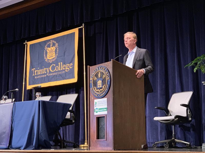 Conn. Gov. Ned Lamont speaks at the 2019 Environmental Summit, Thursday in Hartford.