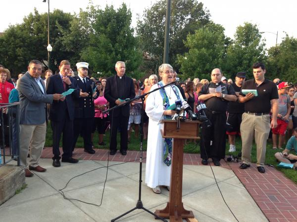 Presenters at the vigil in East Haven on Saturday Evening