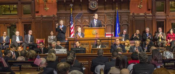 Connecticut Governor Dannel Malloy delivered his State of the State address to the General Assembly on Thursday.