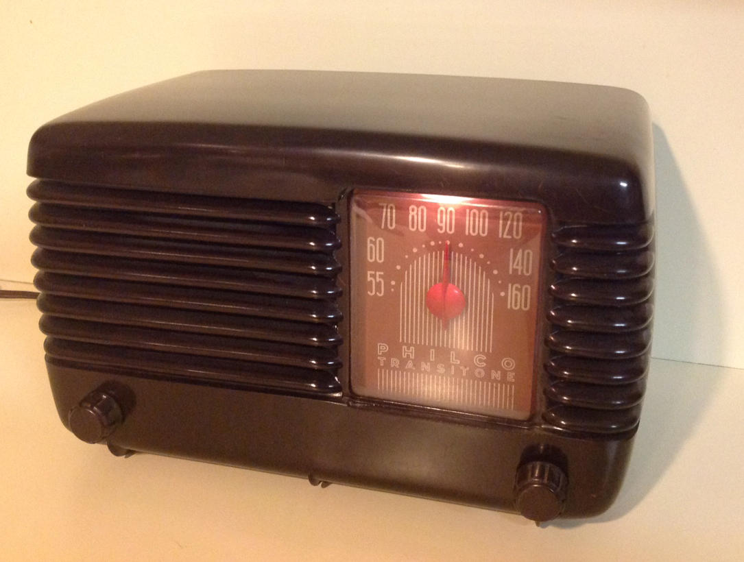 The All American Five Wshu This Is Thefinal Circuit Board Which Has Been Mounted In A Stock Radio Pre War Philco Transitone With