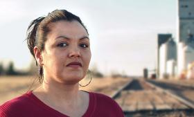 Photo caption: Robin Charboneau, an Oglala Sioux woman living on North Dakota's Spirit Lake Reservation, is profiled in the two-part PBS film Kind Hearted Woman.