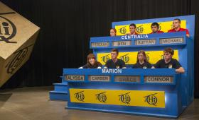 Centralia High School students compete against Marion High School students on Scholastic Hi-Q.
