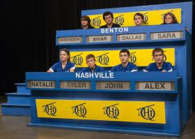 Top students from Nashville and Benton High Schools compete on WSIU's Scholastic Hi-Q.