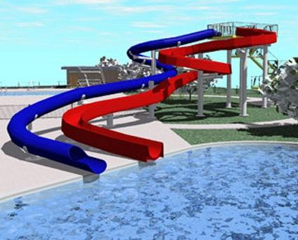 artist rendering of water slides at Carbondale's planned Super Splash Park
