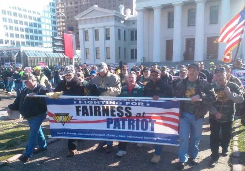 UMWA Rally held February  13, 2013 in St. Louis to protest Peabody Energy