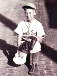 A young Pete Peterson ready to take the field