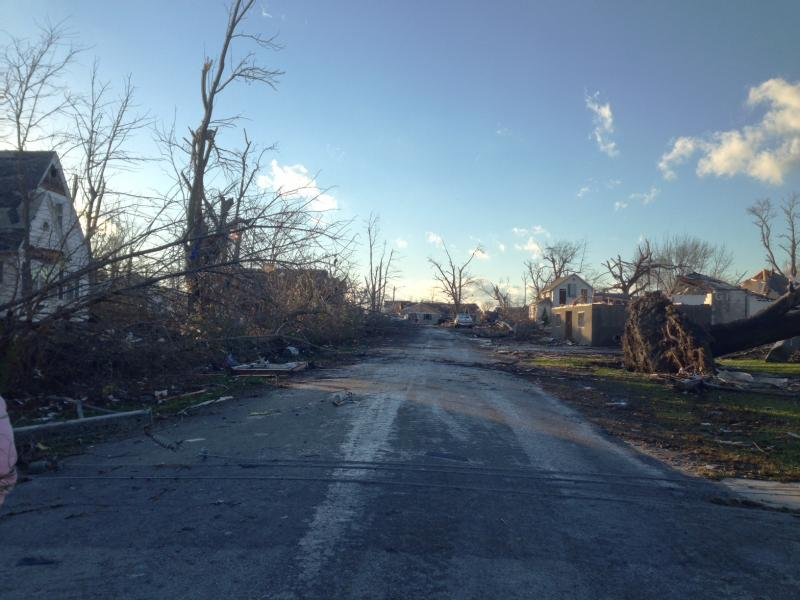 Storm damage in Gifford