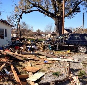 Storm damage in Brookport, IL from Sunday's tornado