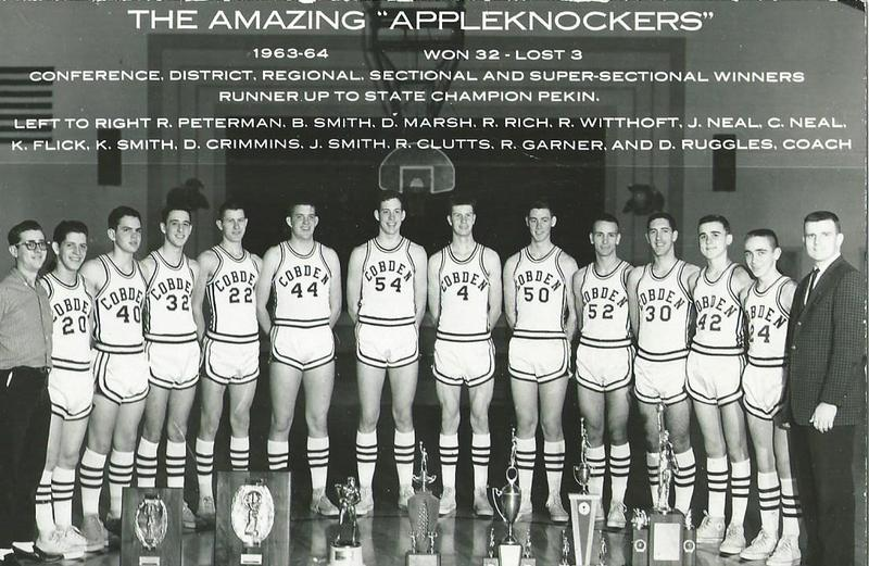 1963-1964 Cobden Appleknockers team that finished as the runner up in the state championship