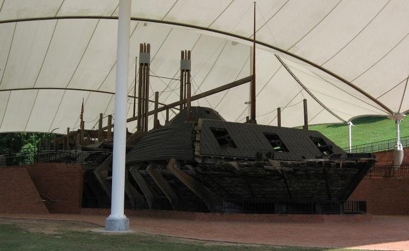 USS Cairo today on display at the Vicksburg National Military Park in Mississippi