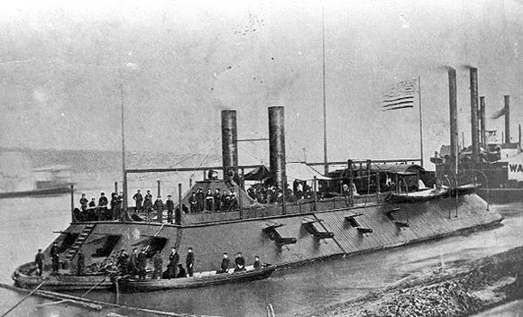 USS Cairo built at Mound City in 1861 by James Eads