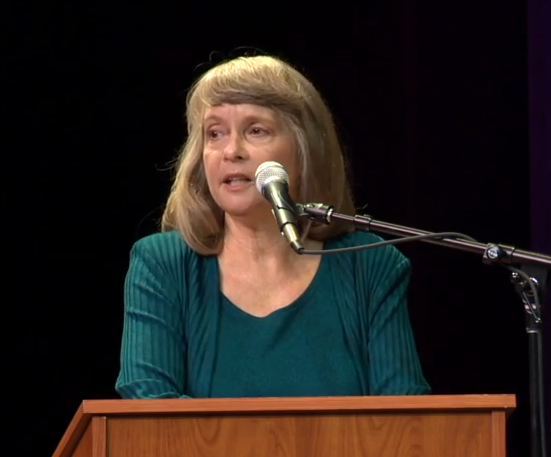 Green Party candidate Paula Bradshaw takes part in 12th District Congressional debate