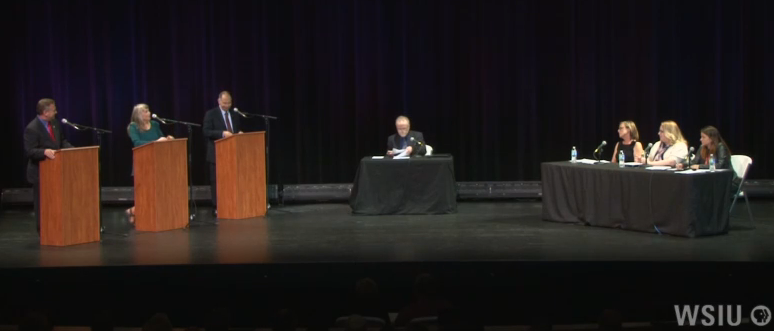 WSIU, The Southern Illinoisan, and The Belleville News Democrat sponsored the 12th District Congressional debate at the Marion Cultural and Civic Center