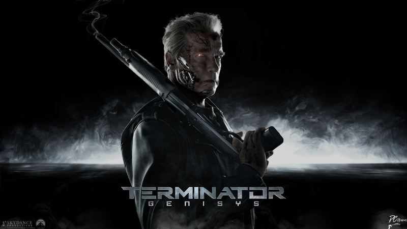 movie poster for Terminator Genisys