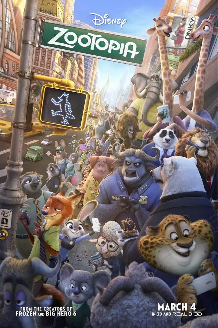 movie poster for Zootopia
