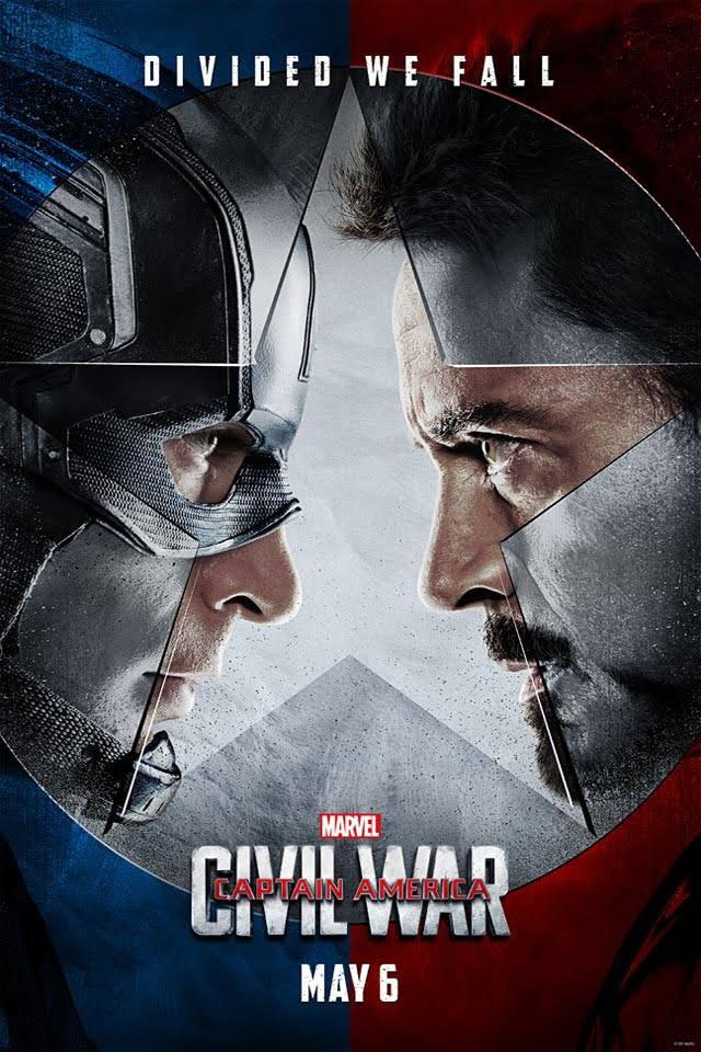movie poster for Captain America:Civil War