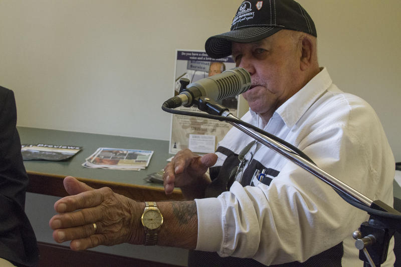 Retired southern Illinois coal miner Jack McReynolds takes part in Listening Project at Benton Library