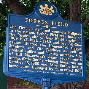 forbes field essays and memories Review ratings for forbes field: essays and memories of the pirates' historic ballpark, 1909 1971 at amazoncom read honest and unbiased product reviews from our users.