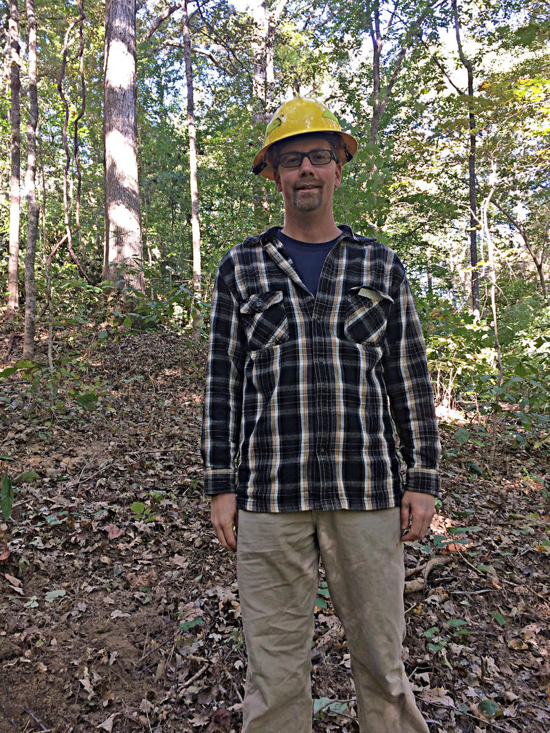 Benjamin Snyder, District Forester with the IDNR shown in the Trail of Tears State Forest on Tuesday, October 11th, 2016.