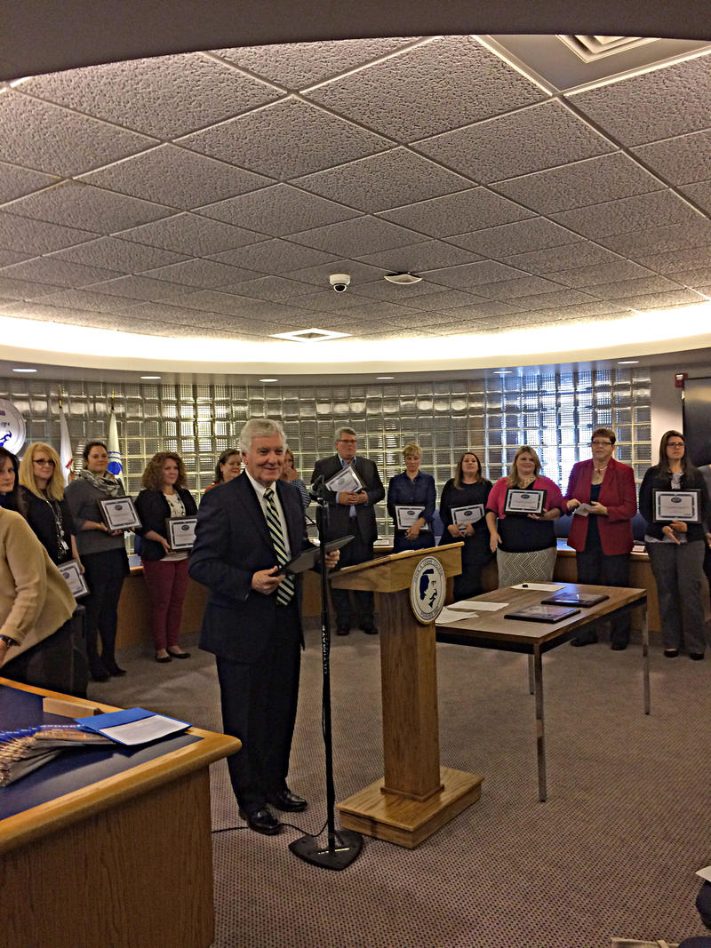 Dr. Glenn Poshard Speaks to a Group of Mental Health Professionals at an Awards Ceremony on Tuesday November 15th, 2016 at John A. Logan College.