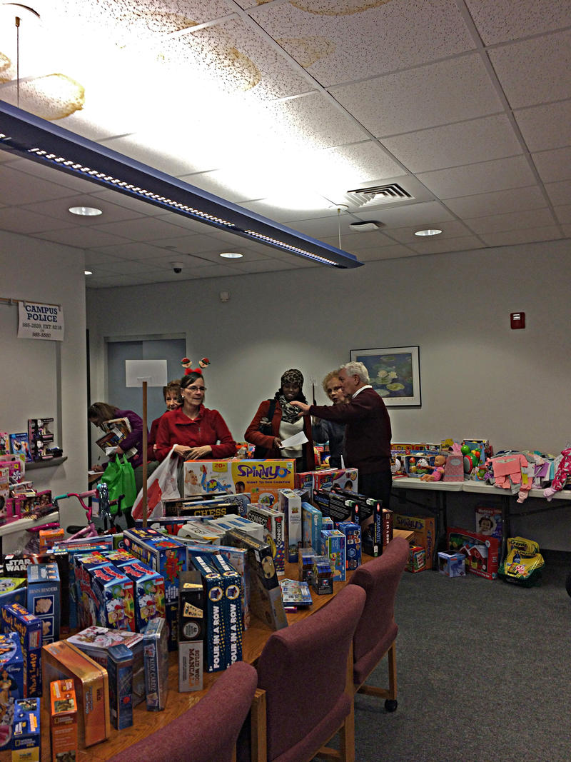 Jo and Glenn Poshard, FAR RIGHT, At the Toy Giveaway at John A. Logan College on December 12th, 2016.