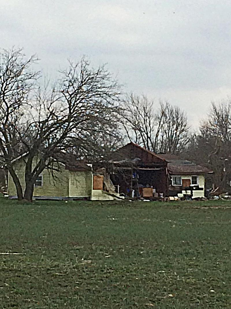 The Franklin County Home of Ernie and Ruth Meadows Was Severely Damaged By A Tornado on Tuesday Night, February 28th, 2017.