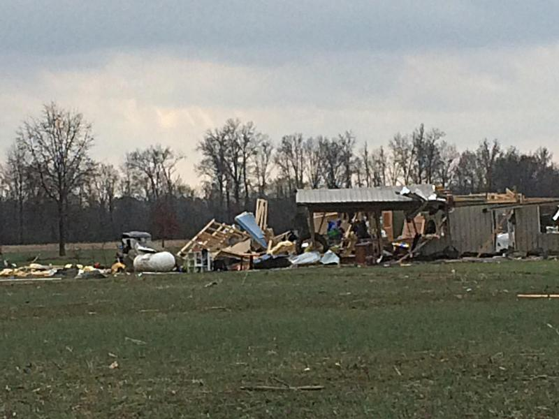 Even Though This Franklin County Home Was Severely Damaged By the February 28th, 2017 Tornado, The Residents Were Pulled From The Rubble Safe and Sound.