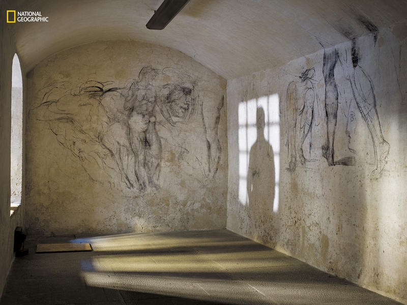 Prodigious productivity is a defining characteristic of genius. Charcoal sketches cover the walls of a once concealed room beneath the Medici Chapel in Florence, where Michelangelo hid for three months in 1530 after defying his patrons. The drawings inclu