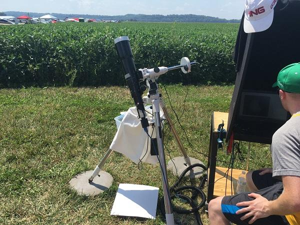 A team from Southeast Missouri State University sets up its telescope as part of the nationwide CATE Project to document the eclipse.