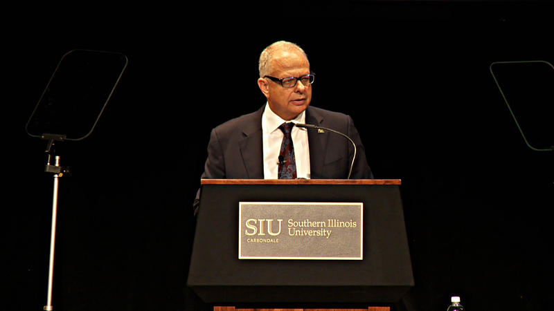 Carbondale Campus Chancellor Dr. Carlo Montemagno Delivers His First State Of The University Address On September 26th, 2017.