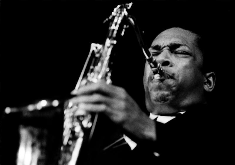 John Coltrane in concert.