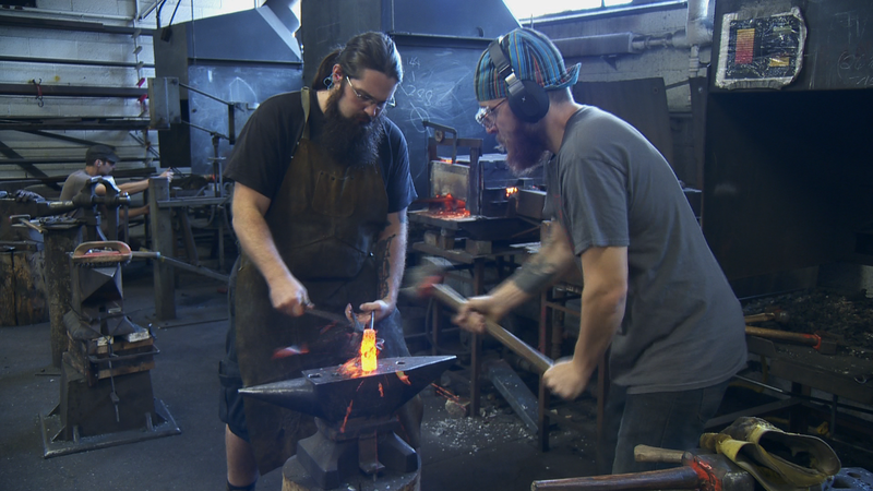 Blacksmith Forging Steel