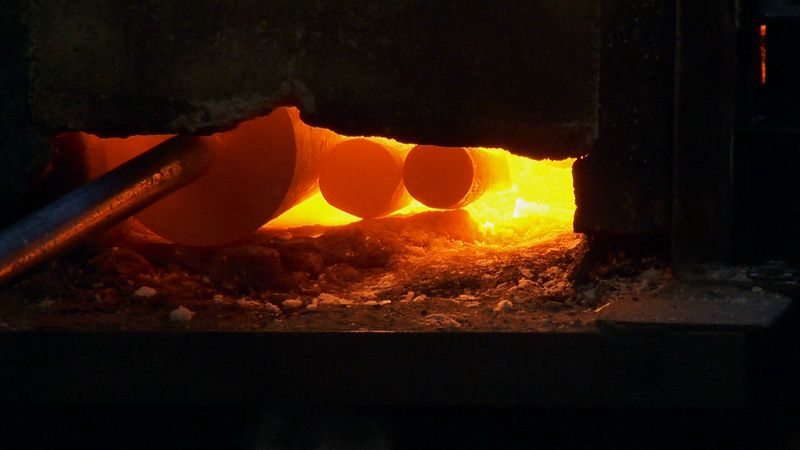 Steel Heating in a Forge